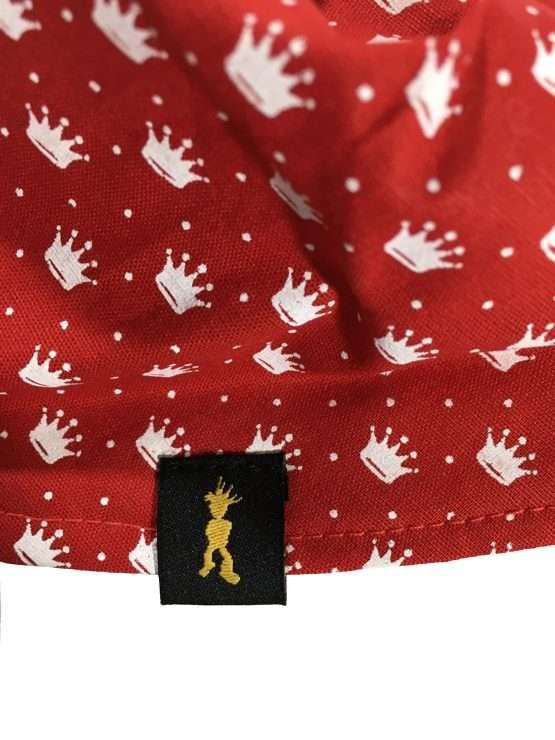 Bandana Coroa pEdRo rEi Vermelha Etiqueta 555x740 - Bandana Coroa
