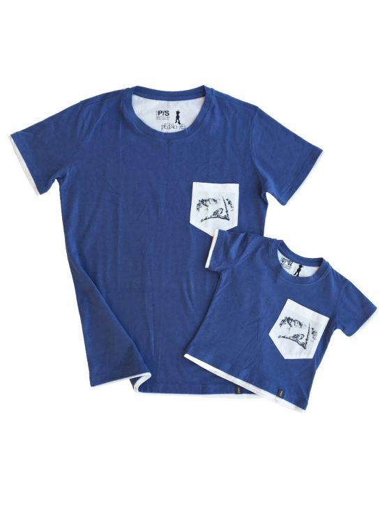 Camiseta Free Bird Pai Filho 555x740 - Camiseta Pai e Filho Azul