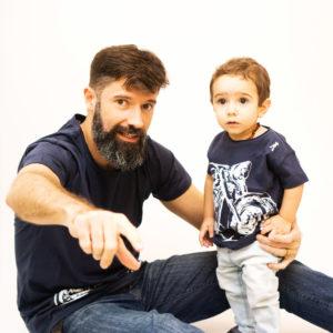 Moto Branca Tal Pai Tal Filho 02 300x300 - Camisa Harley Davidson Pai e Filho Branca
