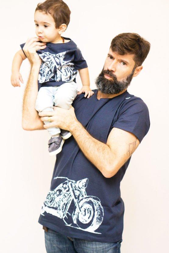 Moto Branca Tal Pai Tal Filho 555x833 - Camisa Harley Davidson Pai e Filho Branca